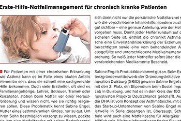 """Deutsche Haut- und Allergiehilfe e.V. berichtet über die Asthma Tasche """"Chronikit"""""""